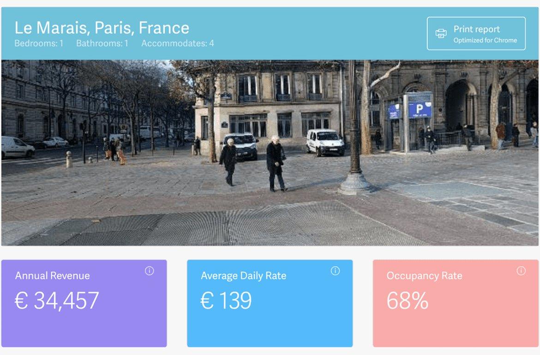 Simulateur de revenus Airbnb par Airdna